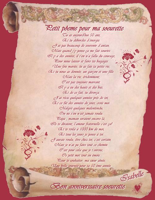 Petit Poeme Pour Ma Soeur